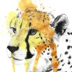 Cheetah Ink With Splatter