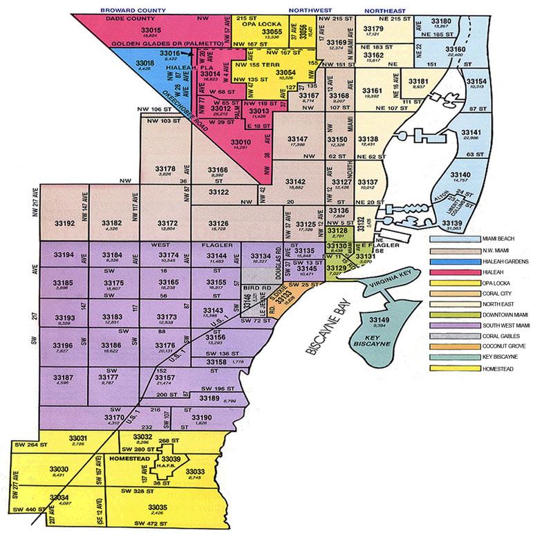 Broward County Zip Code Map