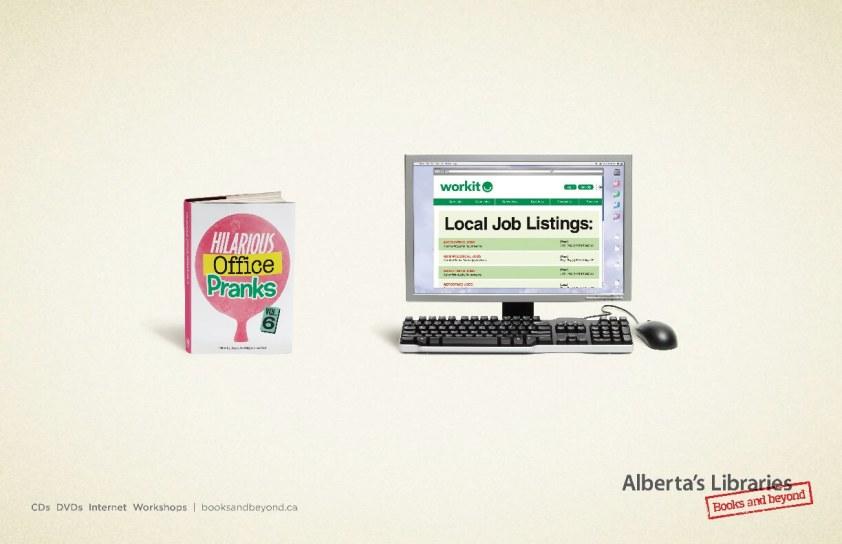 Alberta Library Job Site Ad