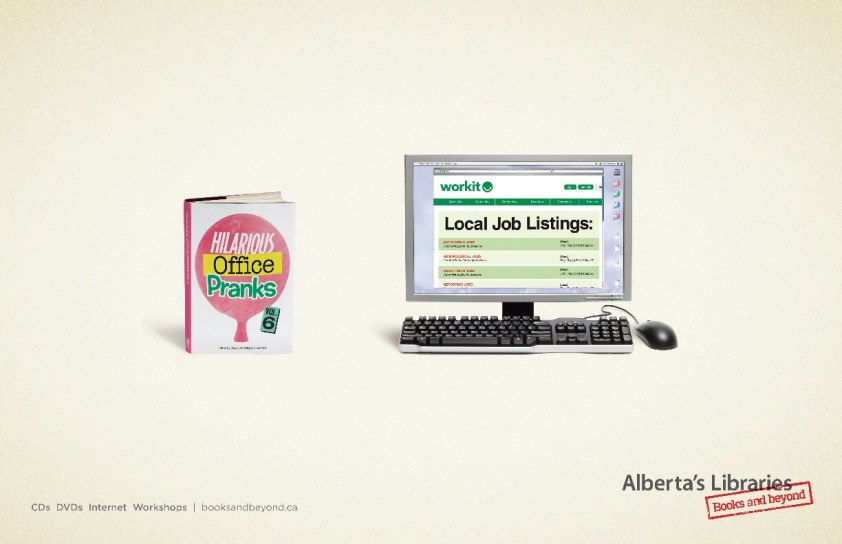 Alberta Library Job Site Ad