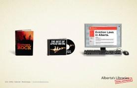 Alberta Library Heavy Metal Ad