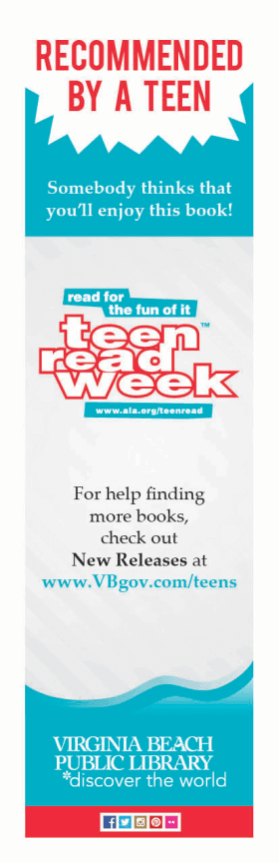 Teen Read Week Bookmark