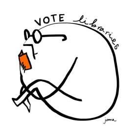 Vote Libraries 3 by Juana Medina