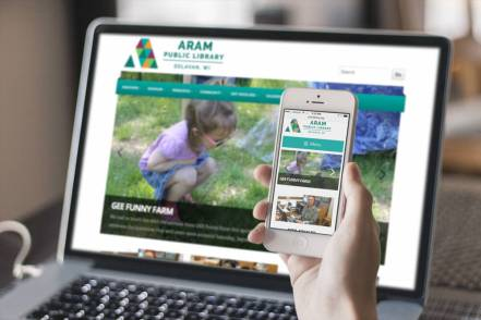 Aram Website Mockup