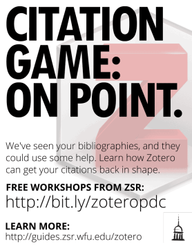 Citation Game: On Point - Zotero Poster