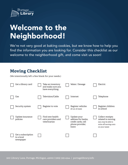 Relocation Flyer Checklist