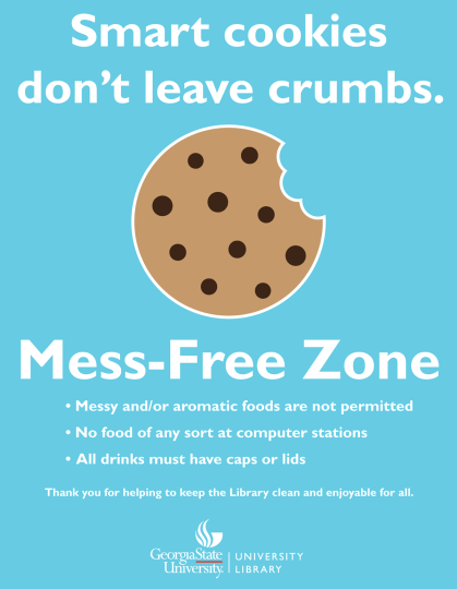 Cookies---Mess-Free-Zone---GSU-Libraries