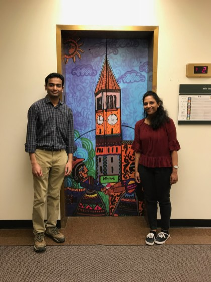 Engaging students through elevator art