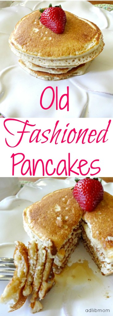 Old fashioned pancake recipe. This recipe makes light and fluffy pancakes