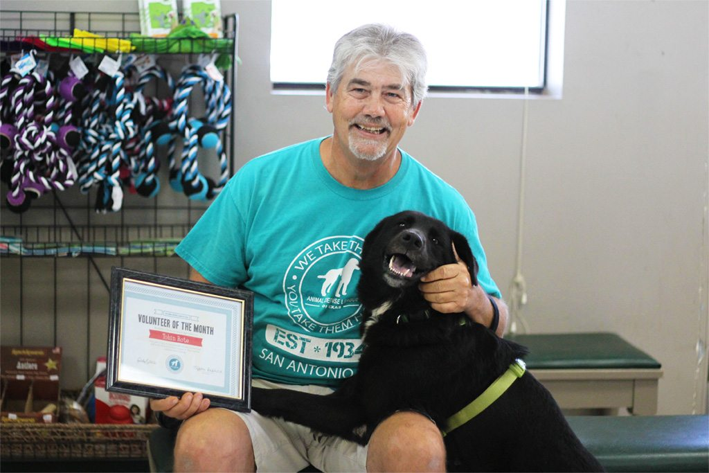 The Animal Defense League's Volunteer of the Month - Tobin