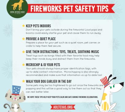 Fireworks Pet Safety Tips