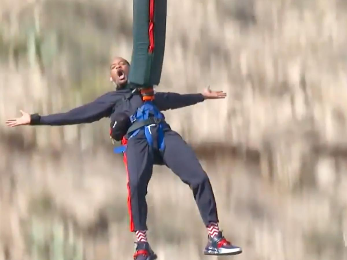 Will Smith Plunges From Helicopter, Bungee Jumps Over Grand Canyon for 50th Birthday
