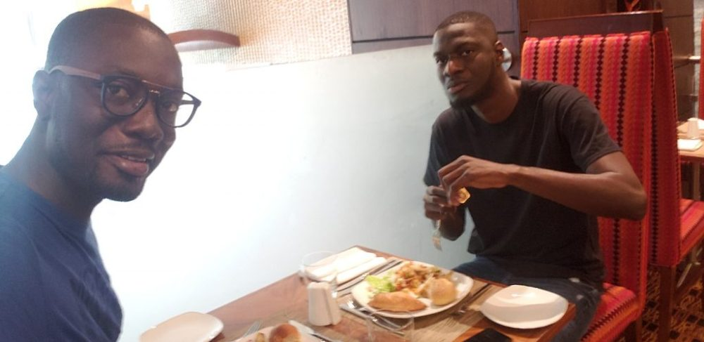 lunch with my brother at Accra Marriott hotel restaurant