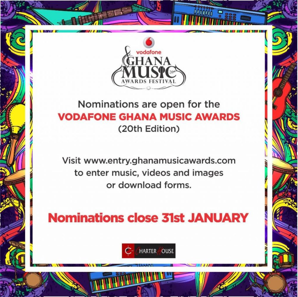 Nominations open for 20th Ghana Music Awards