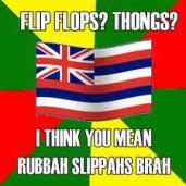 rubbah slippahs