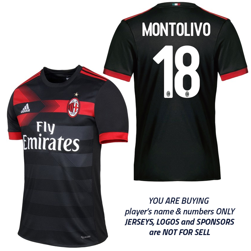 new arrival 6c5af 656e8 2017/18 AC Milan Home and Third Kits