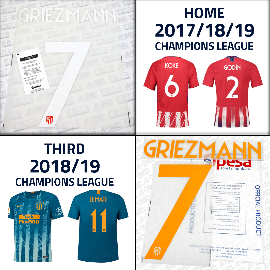 low priced 0091d 1e325 2017/18/19/20 Atletico Madrid UCL Home & Third Kits