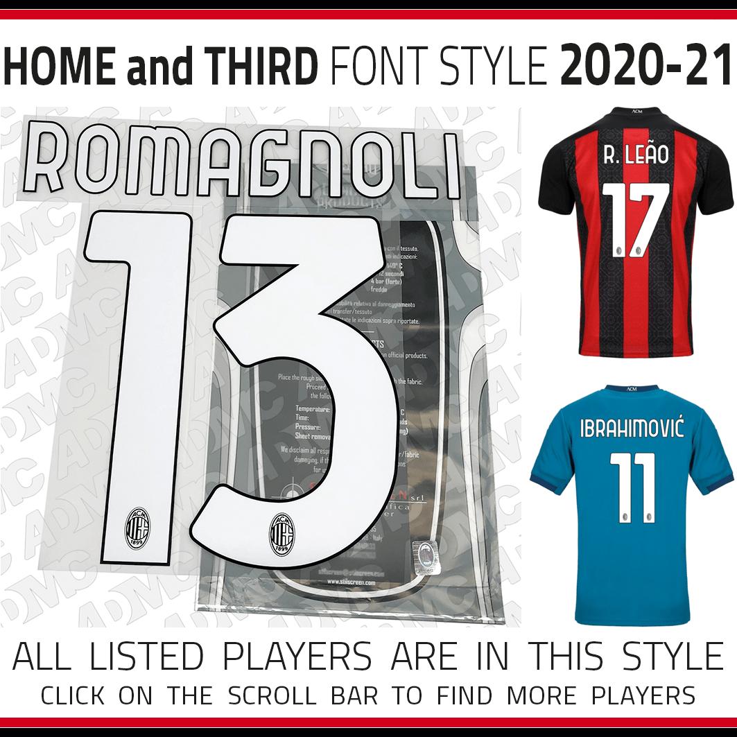 2020 21 Ac Milan Home And Third Kits Admc Llc