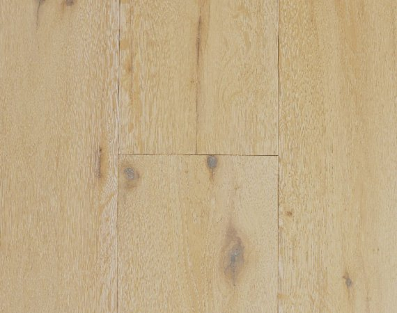 Oil Vintage Ivory 5/8 in. Thick x 7-1/2 in. Wide x Varying Length Floating Engineered European Oak Hardwood Flooring (30.3 sq. ft. / box) - 810001960568
