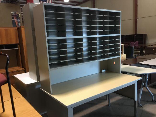 Desk Desk with mail sorter hutch  Desks  AAffordable