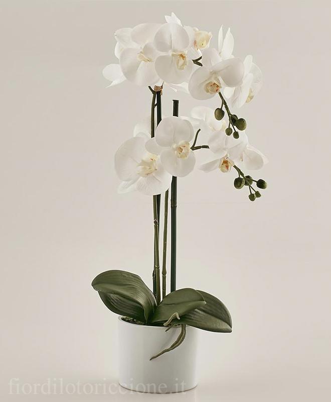 Pianta di Orchidea artificiale  Scegli il colore   Fior
