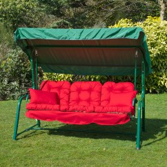 Swing Chair Replacement Beach With Leg Rest Garden 3 Seater Seat Hammock Cushion Set