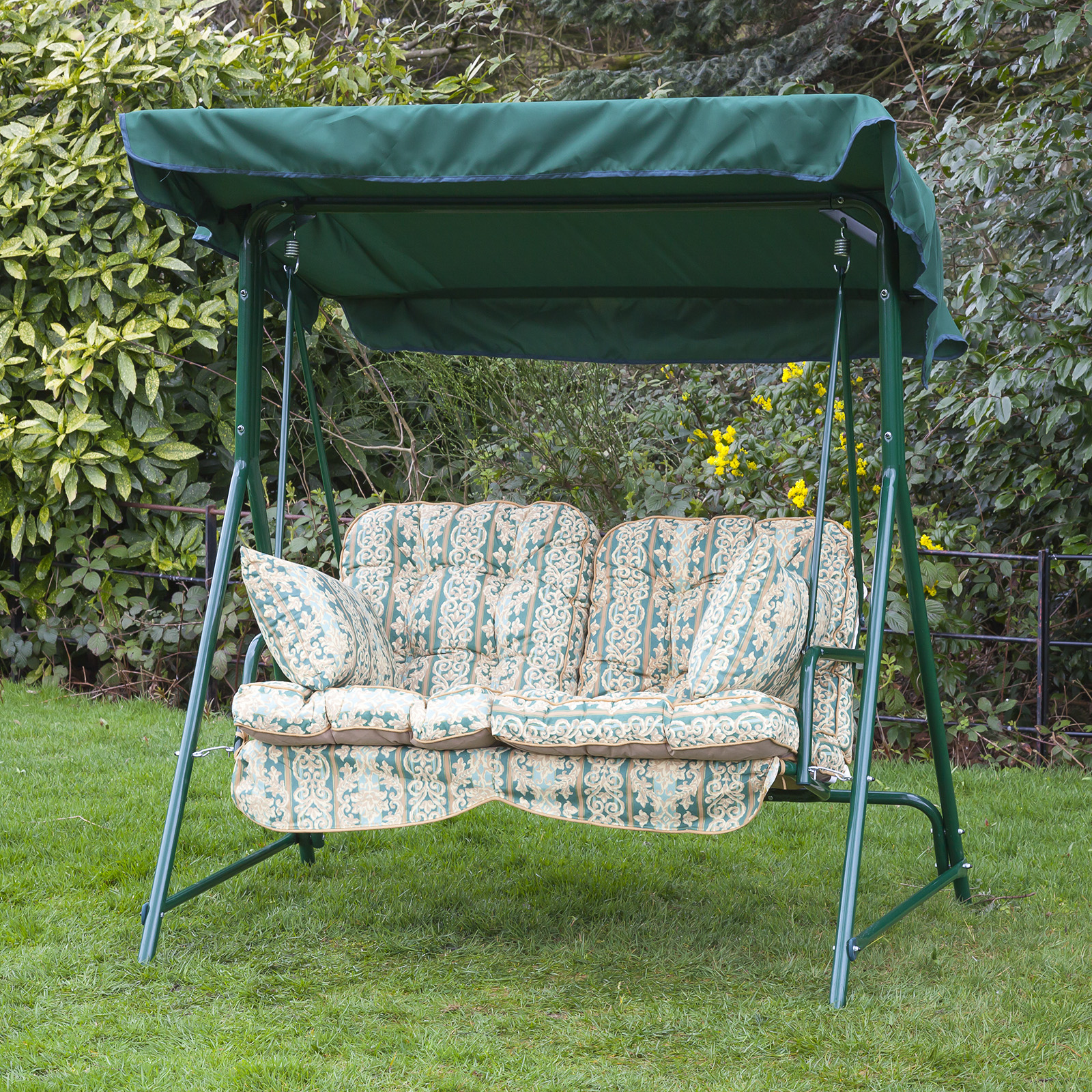 outdoor swing chair covers cabelas camping chairs alfresia luxury garden seat cushions 2 seater ebay