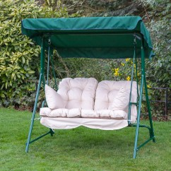 Swing Chair Replacement Comfy White Garden 2 Seater Seat Hammock Cushion Set