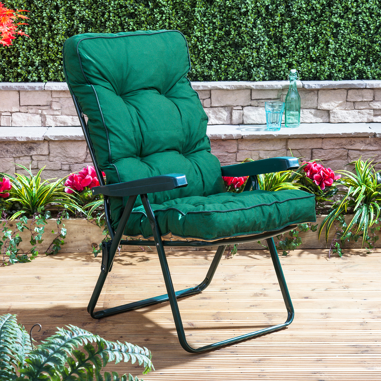 Outdoor Recliner Chair Alfresia Luxury Garden Recliner Chair Cushion Ebay