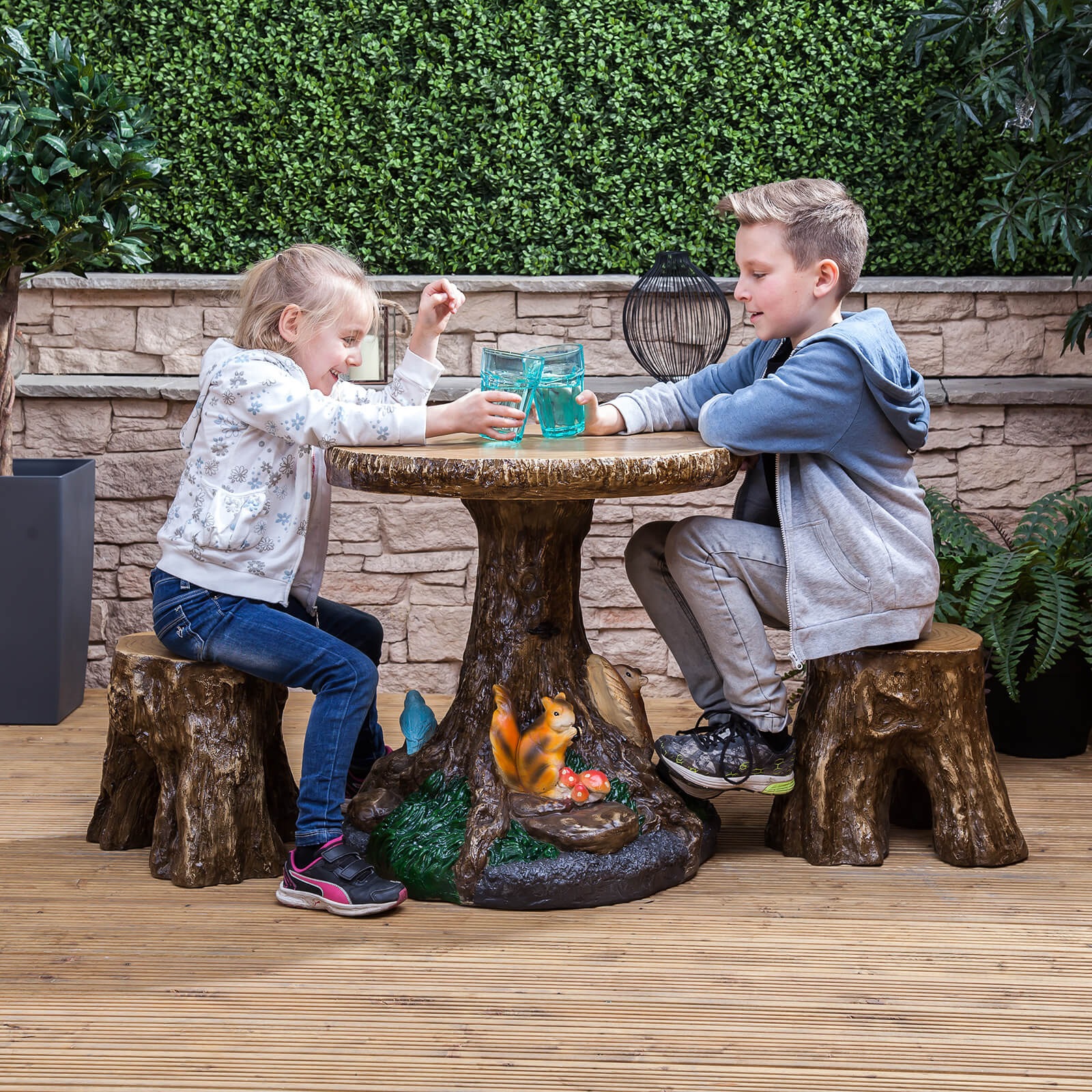 Kids Outdoor Table And Chairs Kids Forest Outdoor Garden Patio Table And Stools Furniture