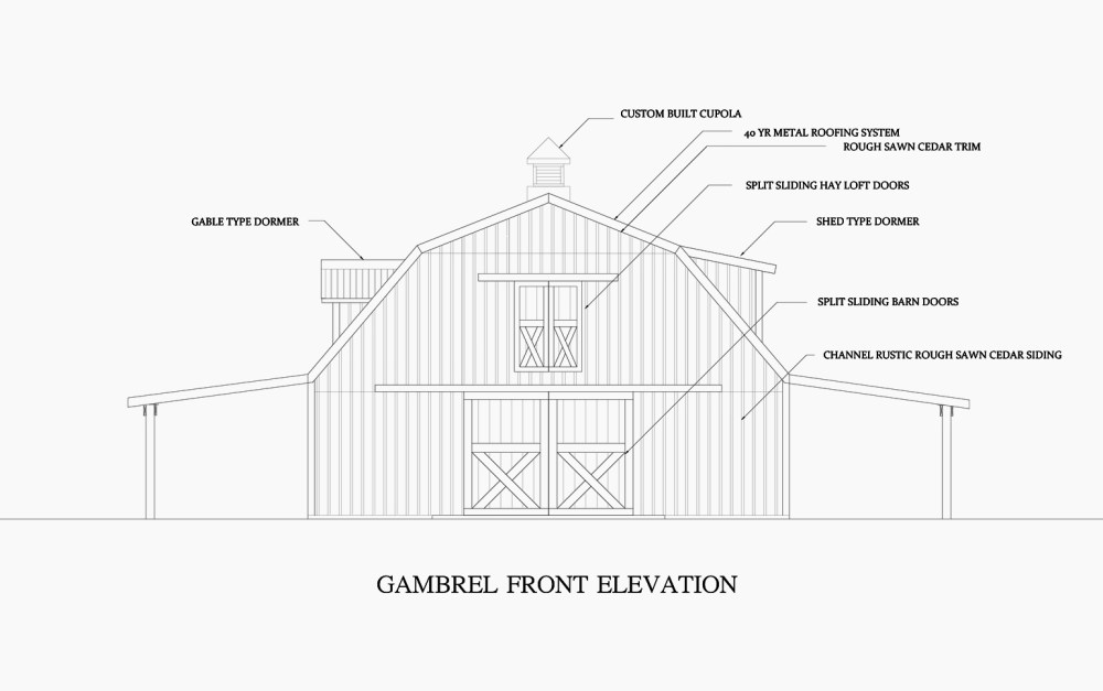 medium resolution of the gambrel design offers a 2nd floor that allows you stack hay as hign as a mountain or for wide open living