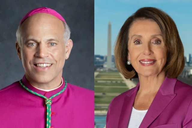 Archbishop Salvatore Cordileone of San Francisco and House Speaker Nancy Pelosi. Dennis Callahan, Archdiocese of San Francisco/Public domain.