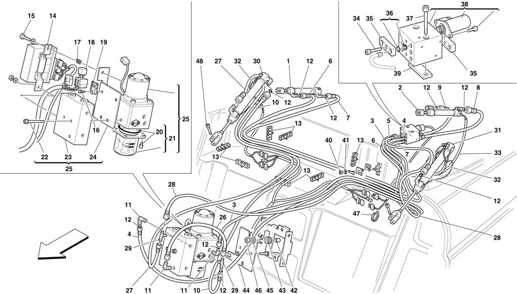 hight resolution of ferrari spider 360 vacuum diagram