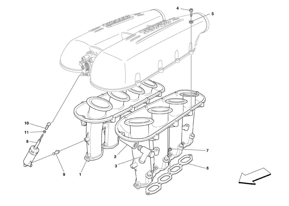 medium resolution of ferrari 430 coupe air intake manifold 013