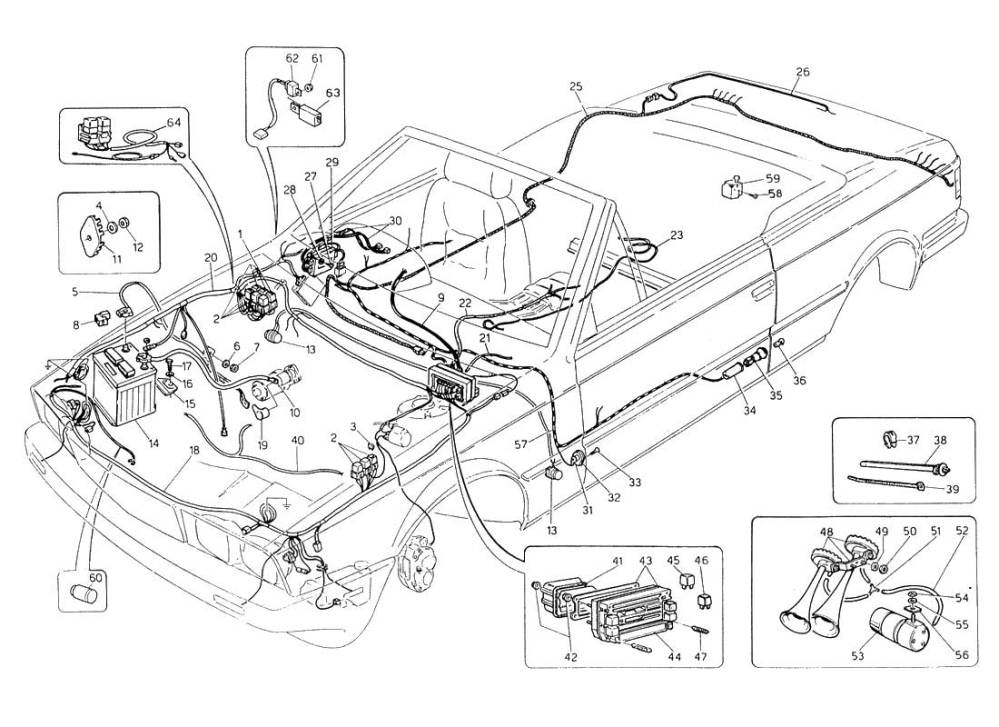 medium resolution of diagram wiring harness and electrical components l h steering 059 ferrparts