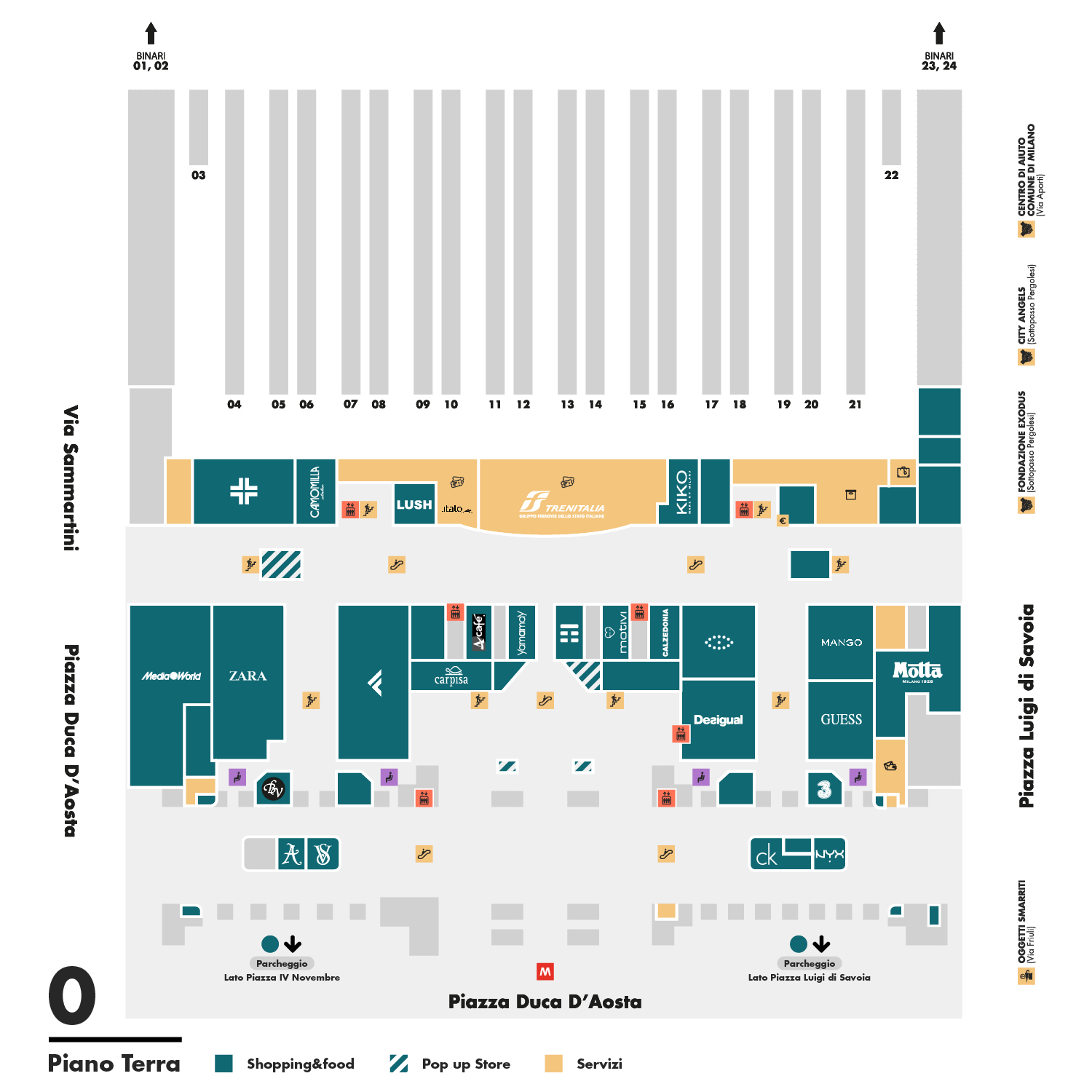 airport er diagram 1 switch 2 lights wiring left luggage - kipoint ground floor | milano centrale