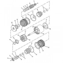 Caterpillar Backhoe Transmission, Brakes and Rear axles