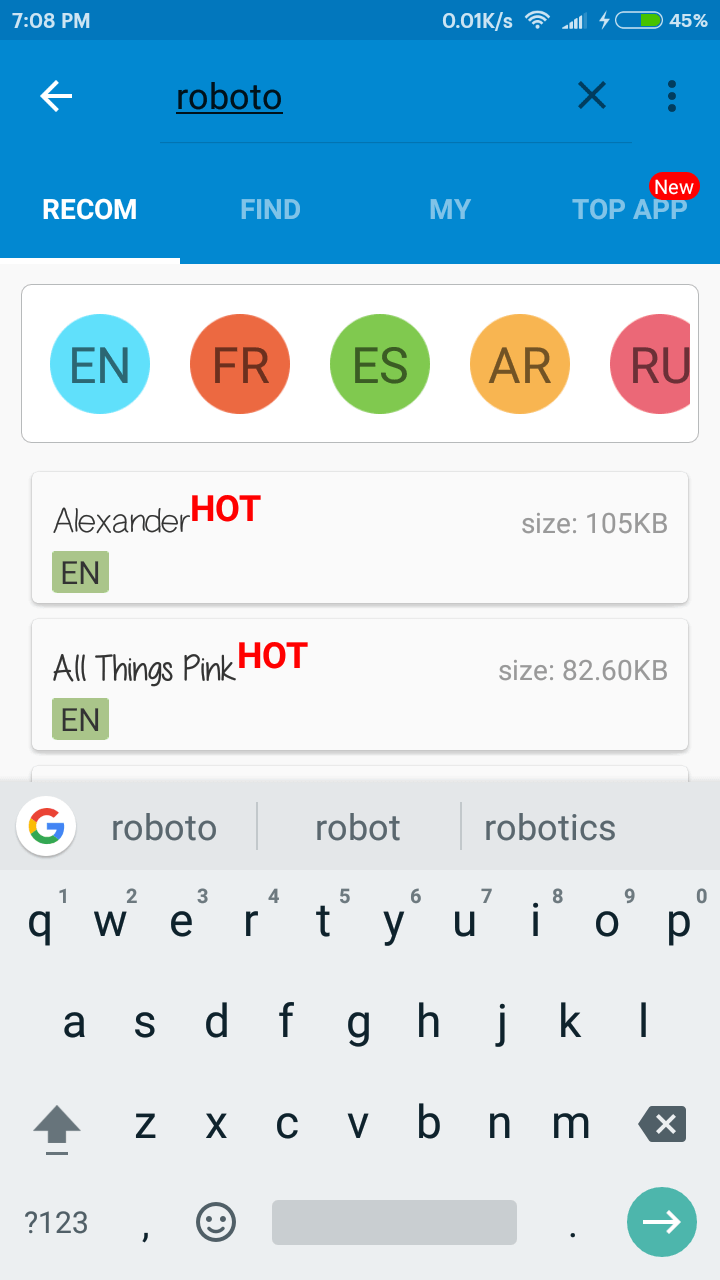 Font Feature Not Available After Update,Here is the solution -(No Root)