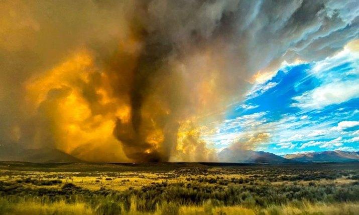Tornado de fuego arrasa 8 mil hectáreas del norte de California