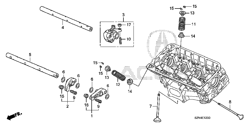 Запчасти на ACURA ZDX (2010-2012 г.в.) Двигатель