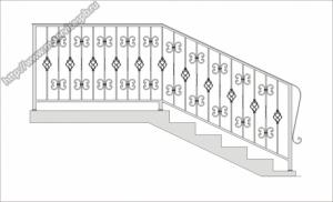 Кованые перила, поручни для лестниц. Изготовление и