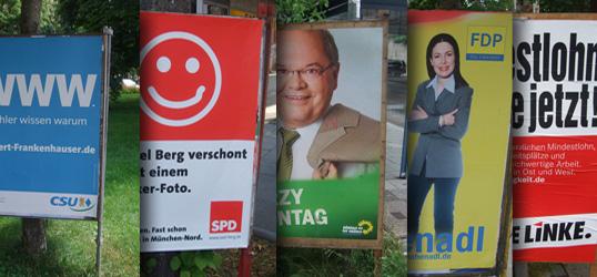 Die Wahlplakate - eine Galerie