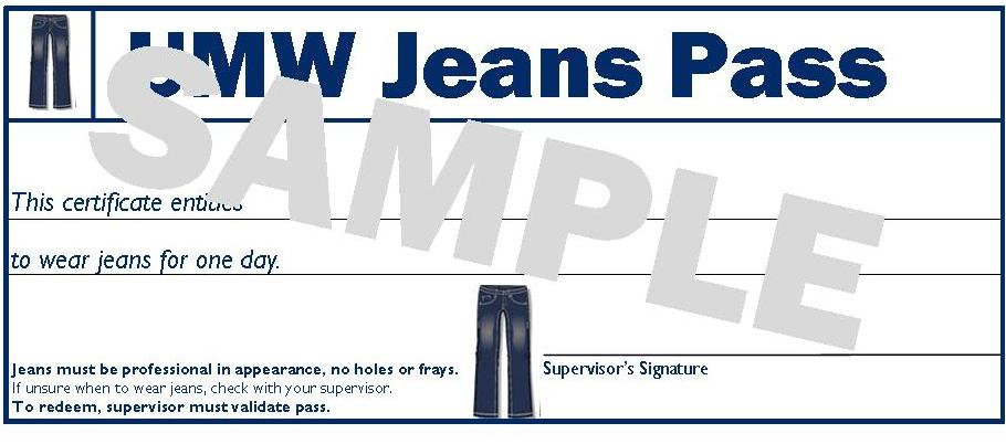 umw jeans pass program
