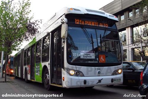 Transantiago – Caio Mondego LA articulado – Volvo B9 SALF