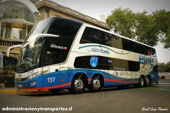 Nuevo bus de dos pisos 8×2 de Eme Bus: Marcopolo Paradiso 1800 DD / Scania