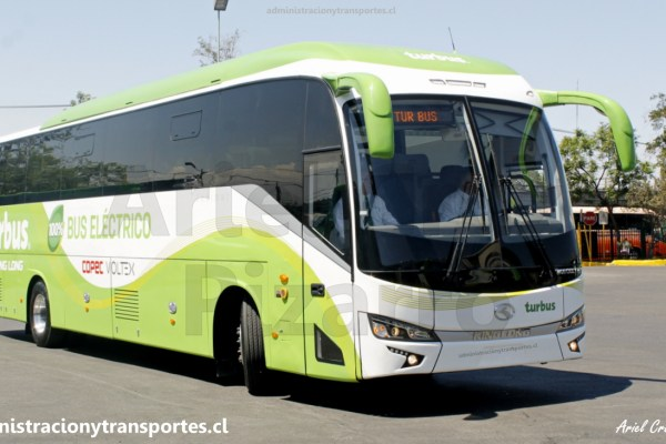 El primer bus eléctrico de Tur Bus y de Chile, King Long 6130