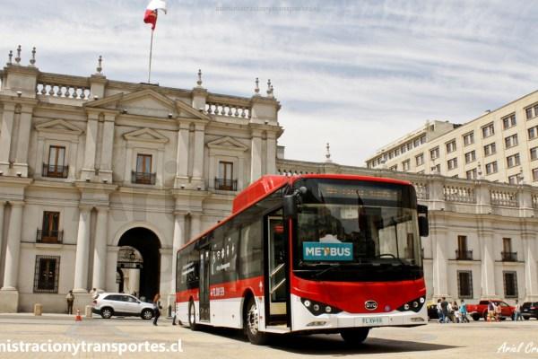 Los nuevos 100 buses eléctricos BYD K9 FE para Santiago de Chile