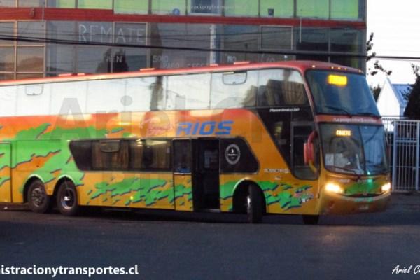 EV: Viaje en Buses Ríos BZXR72, Santiago a Cañete