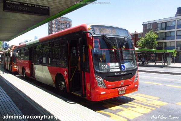 Micros de Santiago: Neobus Mega Plus – Volvo B290R LE Euro 5