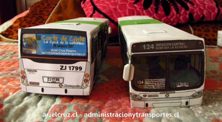 Maquetas de buses Transantiago